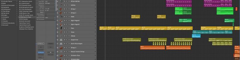 Travail dans Logic Pro